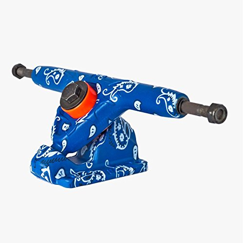 Bandana Skateboard Truck (Buck Skate Trucks 180mm (Set of 2) (Blue Bandana))