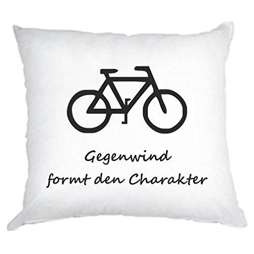 Kissen Motiv Fahrrad Smile