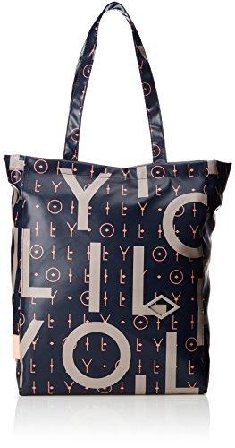Oilily Lori Letters Shopper Lvz, Bolso Mujer, Azul (Dark Blue), 18x39x31 cm (B x H T)