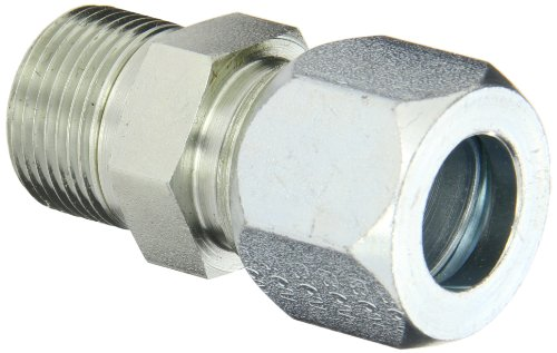 - Eaton Weatherhead Carbon Steel Flareless 7000 Series Ermeto Tube Fitting, Male Connector, 3/4