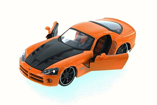 2008 Dodge Viper SRT10, Orange - JADA 96805XN - 1/24 Scale Diecast Model Toy Car