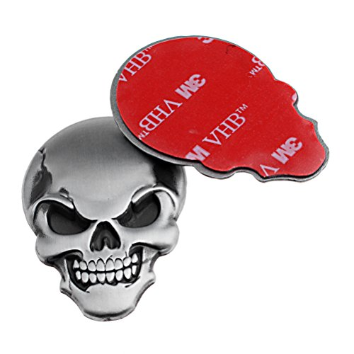 Astra Depot 2X Cool 3D Metal Skull Sticker Emblem Bone Demon Fender Trunk Decoration For Buick Chevrolet Dodge GMC Ford Jeep - Ford Ranger Fiberglass Fenders
