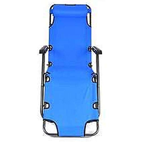 Binlin Folding Chaise Lounge Chair,RHC-202 Portable Dual Purposes Extendable Folding Reclining Chair,Blue,Support 330 Lbs (Folding Target Chair Lounge)