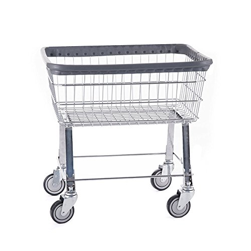R&B Wire 96B Light Duty Rolling Wire Laundry Cart, 2.5 Bushel, Chrome from R&B Wire Products