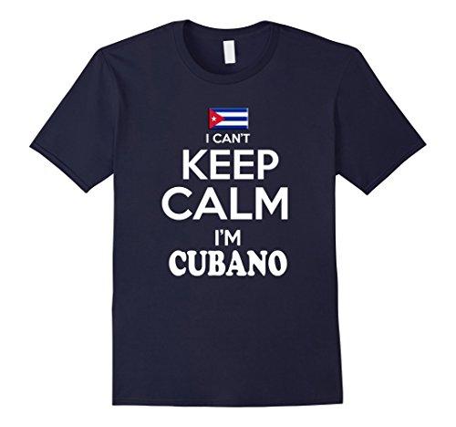 Men's Cuba Keep Calm Pulover Camiseta Cubana tshirt para Hombre XL Navy