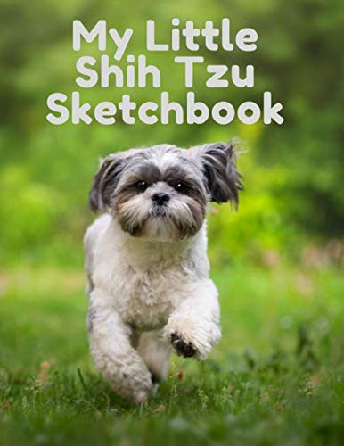 My-Little-Shih-Tzu-Sketchbook-Journal-Notebook-For-Dog-Lovers-120-pages-85-x-11-Framed-design-interior-with-Cute-Matt-Cover