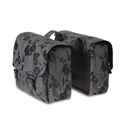 BASIL Elegance moonstone grey Double bag Doppeltasche 32l Fahrradtasche Damentasche Bike Tasche