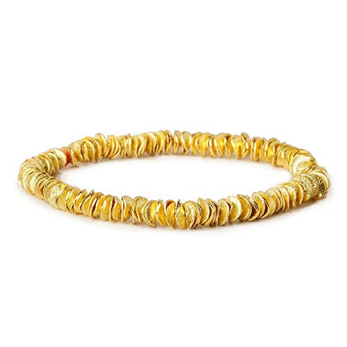 (6mm 22kt Gold Plated Copper Brushed Wavy Disc 8 inches 171 pcs)