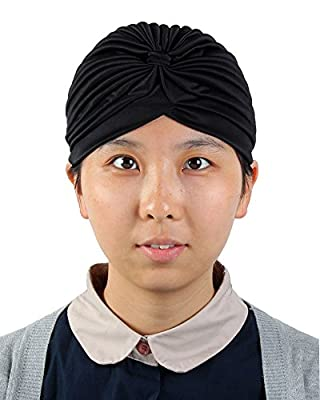 Leegoal Womens Twist Pleated Stretch Turban Hair Wrap Sun Cap
