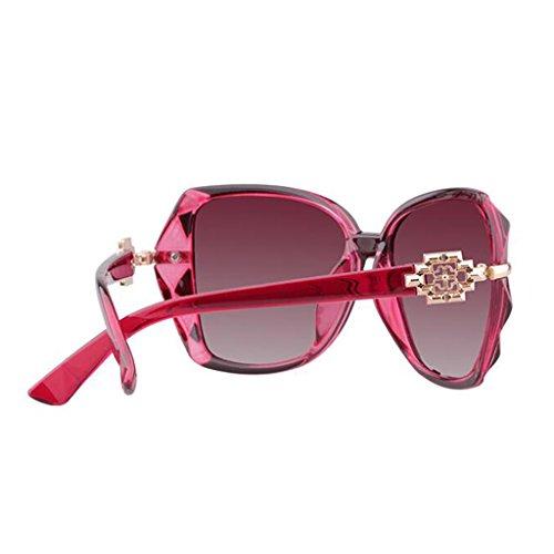Miopía Gran de Tide Sol Marco Star Puede UV Sra Protección El Rojo Gafas LE con de Gafas Mismo Polarizadas KAI Purple Sol Equiparse Gafas Párrafo Color CqxXOBPw6