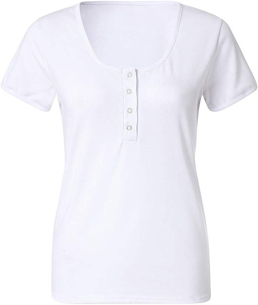 Luckycat Camisetas Tirantes Mujer Basicas De Color S/óLido Top Mujer Ocio Y Confort Camisetas Fiesta Mujer Simple Camisetas Mujer Manga Corta Crop Tops Mujer Verano Camisetas Pecho Top Chaleco