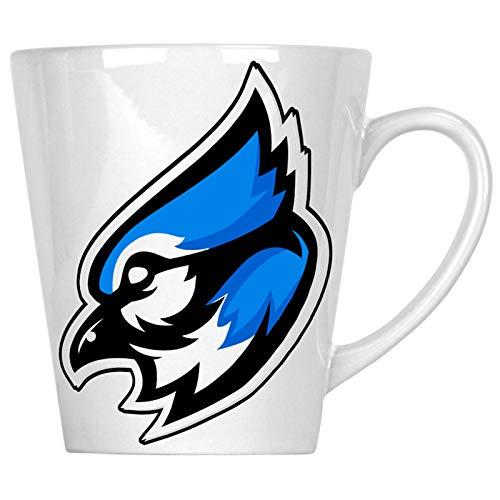 Blue jay mascot logo 12oz Latte Mug u623L