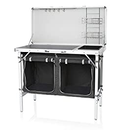 Campart Travel KI-0757 Outdoor Kitchen Granada – Complete Kitchen – Storage Bag Included