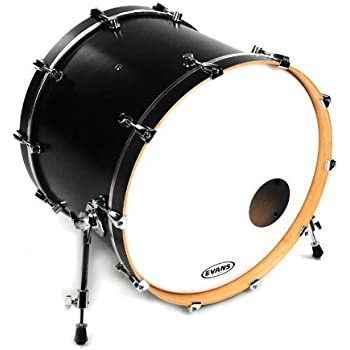 evans eq3 resonant coated white bass drum head 24 inch musical instruments. Black Bedroom Furniture Sets. Home Design Ideas
