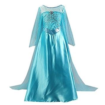 iPretty Disfraz Vestido Princesa para Cumpleaños Fiesta Carnaval Cosplay Talla 130cm