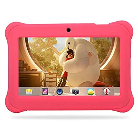 Tablet 7 Inch For Kids Quad Core HP Android 4.4 KitKat Dual Camera WiFi Case Pink (Octacore Huawei)
