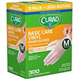 Curad Powder-free Exam Gloves, Vinyl-100 Each (Pack of 3) Medium