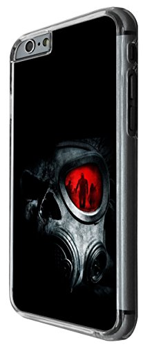 910 - Army equipment mask funky gas mask scary walking dead manly Design For iphone 5 5S Fashion Trend CASE Back COVER Plastic&Thin Metal -Clear