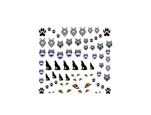 KazCreations Wolf Collection (Wolf Nail Art Decals)]()