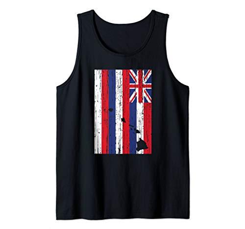 Hawaii Flag & Hawaiian Island Chain Inspired Tank Top