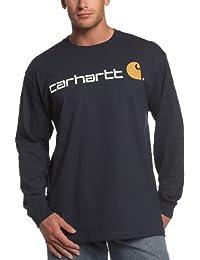 Carhartt Mens Signature Logo Midweight Jersey Long Sleeve T-Shirt