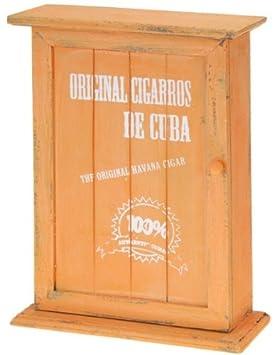 aspetto antico arancione Cassetta in legno per le chiavi