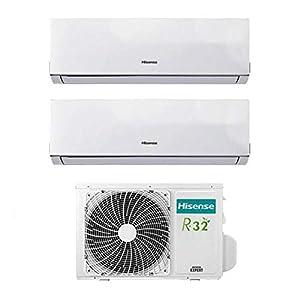 Condizionatore Climatizzatore Inverter Hisense New Comfort Dual Split 9000+12000 9+12 Btu 2AMW42U4RRA R-32 A++ 3 spesavip