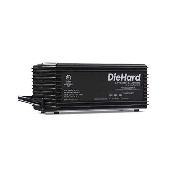 DieHard 71219 Shelf Smart Battery Charger Maintainer 612 Volt 2 Amp