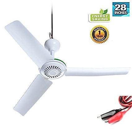 28u0026quot; Inch 12V DC Ceiling Fan 12V Battery Power Ceiling Fan Portable Ceiling  Fan