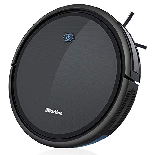 Robot Vacuum Cleaner, iMartine 1700Pa Strong Suction Robotic Vacuum Cleaner, Super-Thin Quiet, Up to 120 min Runtime/Automatic Self-Charging Robot Vacuum for Pet Hair Hard Floor to Medium-Pile Carpet