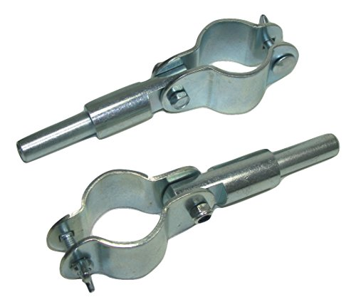 582060C1 Sea-Dog Line Clamp-On Oarlock Pair Zinc Plated Steel 1/2