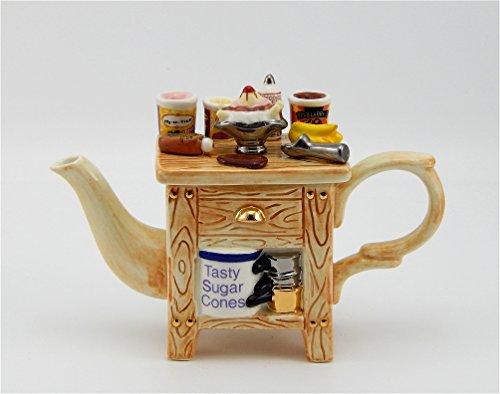 Jim Baileys Miniature Novelty Teapot -Ice Cream Cart