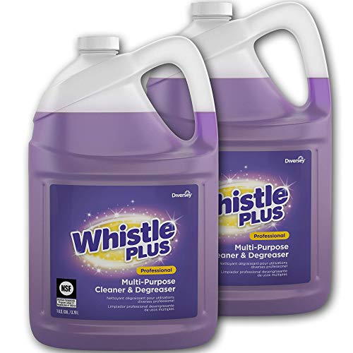 Degreaser 1 Gallon Bottle - Diversey Whistle Plus Professional Multi Purpose Cleaner and Degreaser, 1 Gallon Bottle (2 Pack)