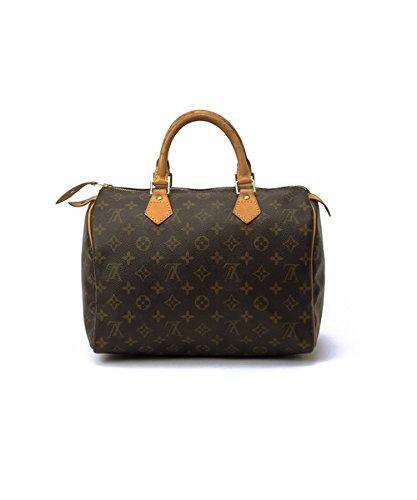 Authentic Women's Vintage Louis Vuitton Speedy 30 Brown Monogram Travel Bag by Louis Vuitton (Image #2)