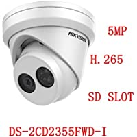 Hikvision 5MP IP Camera DS-2CD2355FWD-I 2.8mm Network Turret Camera POE Night Version IP67 H.265 ONVIF English Version