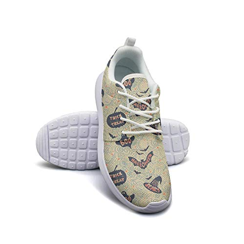 Kanf saysfg Halloween Trick or Treat Fashion Running Sneakers for Women Lightweight Breathabl Athletic Shoes
