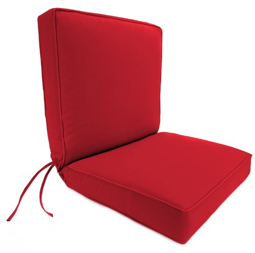 Jordan Manufacturing Dinning Boxed Chair Cushion in Acrylic Jockey Red