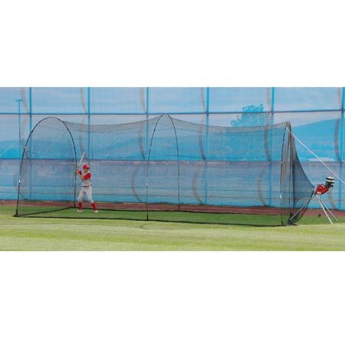 Mound Pitching (HEATER SPORTS PowerAlley Baseball and Softball Batting Cage Net and Frame, With Built In Pitching Machine Harness For Safety (Machine NOT Included))