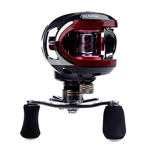 TOOGOOR-LMA200-101BB-Ball-Bearings-Bait-Casting-Fishing-Reel-High-Speed-631-Red-Left