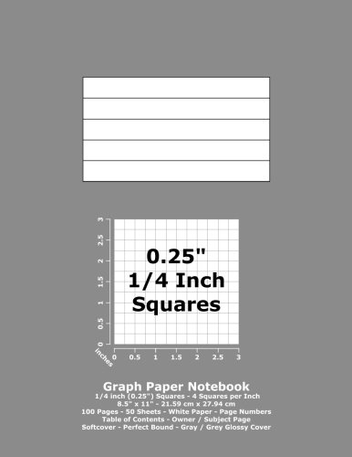 Graph Paper Notebook: 0.25 Inch (1/4