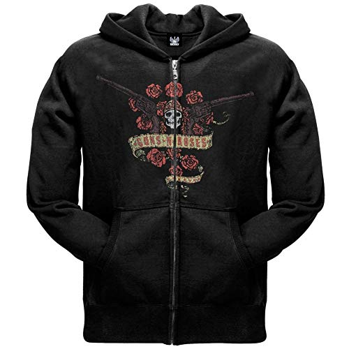 (POOSYa Guns N' Roses - Bouquet Logo Zip Hoodie)