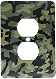 3dRose lsp_157596_6 Dark Green Camo Print Hunting Hunter Or Army Soldier Uniform Style Camouflage Woodland Pattern Light Switch Cover