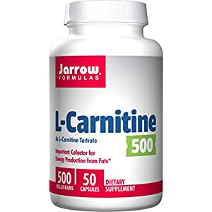 Jarrow Formulas L Carnitine, Supports Brain, Memory, Energy, Cardiovascular Health, 500 mg, 50 Caps