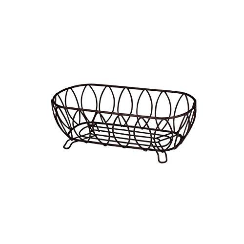 Spectrum Diversified Leaf Bread Basket, Bronze