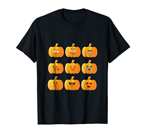 (Cute Pumpkin Face Tshirts Sad, Happy, Sunglasses)
