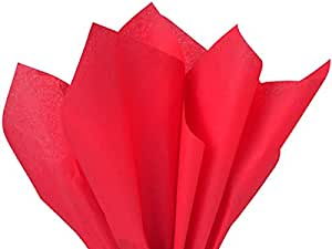 Brand New Solid Red Bulk Tissue Paper 15 Inch x 20 Inch - 100 Sheets
