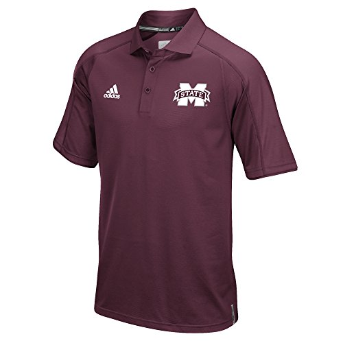 NCAA Mississippi State Bulldogs Men's Sideline Polo, Large, Maroon - Mississippi State Bulldogs Gear