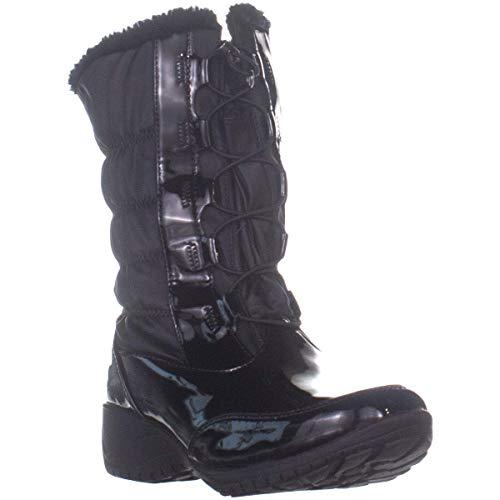 Khombu Womens Bella 2 Closed Toe Mid-Calf Cold Weather Boots, Black, Size 11.0