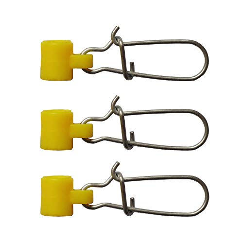 30-60pcs Fishing Sinker Slides with Hooked Snap Fishing Line Connector Fishing Accessories (Yellow, 30pcs)
