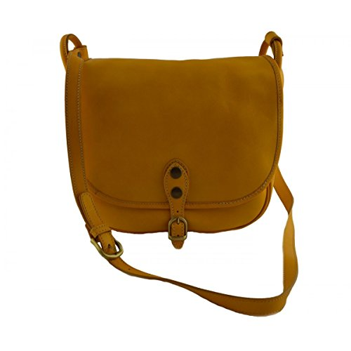 Giallo Borsa Donna Toscana Tracolla A In Pelletteria Italy Colore Made nqIxRfvq